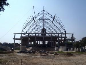 Pembangunan Rangka Atap
